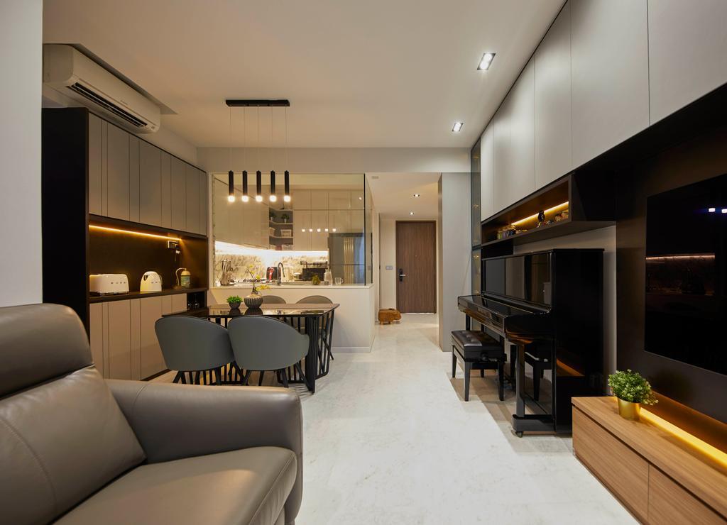 Contemporary, Condo, Living Room, Queens Peak, Interior Designer, The Interior Lab, Scandinavian