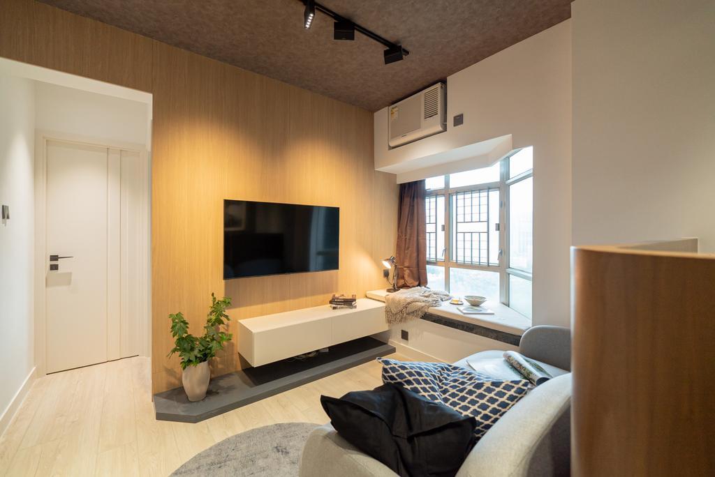 當代, 私家樓, 客廳, Sheung Shui Centre, 室內設計師, B.R.G. Interior Design