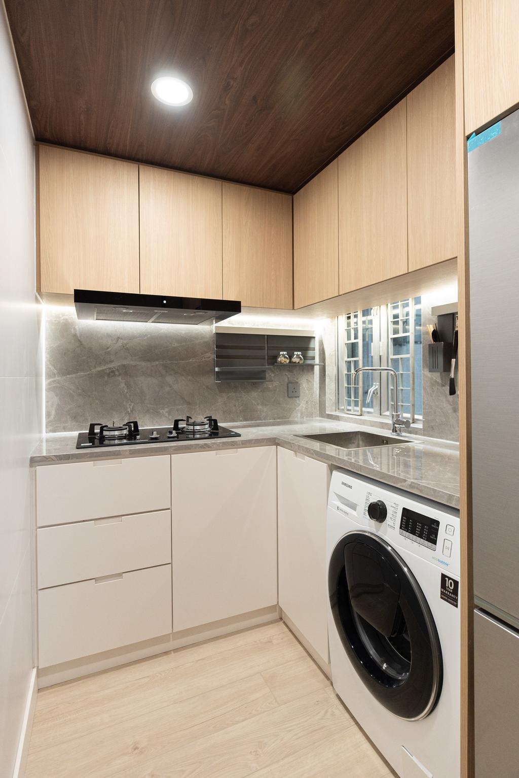 當代, 私家樓, 廚房, Sheung Shui Centre, 室內設計師, B.R.G. Interior Design