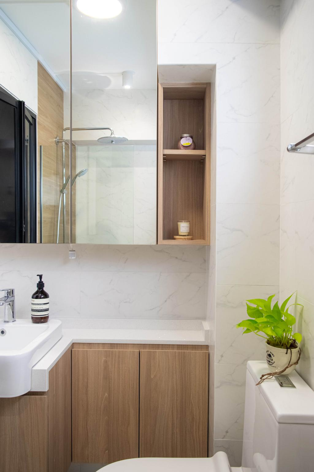Modern, HDB, Bathroom, Jalan Damai, Interior Designer, Posh Home, Contemporary