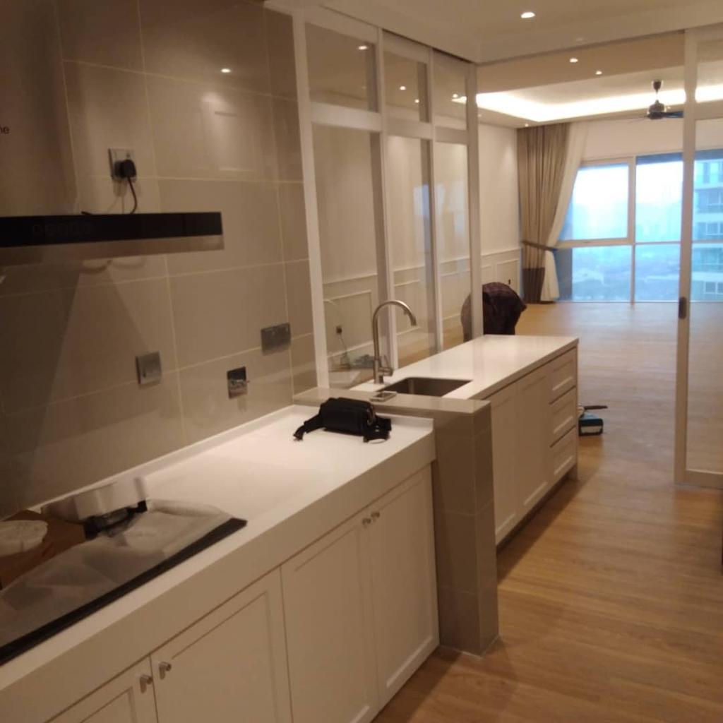 Condo, Kitchen, Seringgi, Happy Garden, Interior Designer, BIQQ Interior