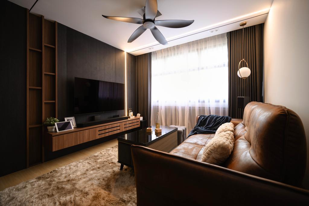 Contemporary, HDB, Living Room, Upper Boon Keng, Interior Designer, SHE Interior