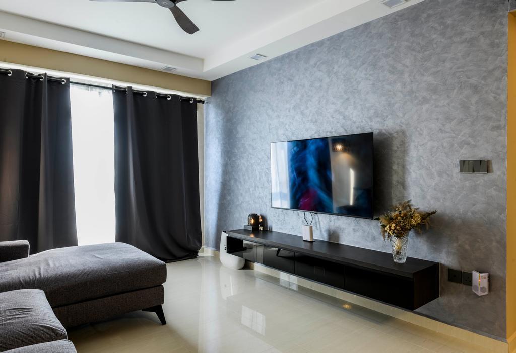 Modern, HDB, Living Room, Tampines Central, Interior Designer, Omni Design, Contemporary