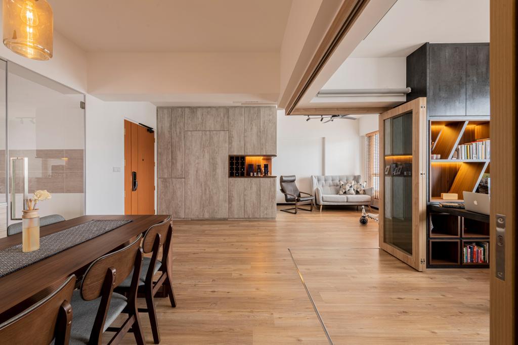 Modern, HDB, Dining Room, Woodlands Drive 16, Interior Designer, E&S, Scandinavian