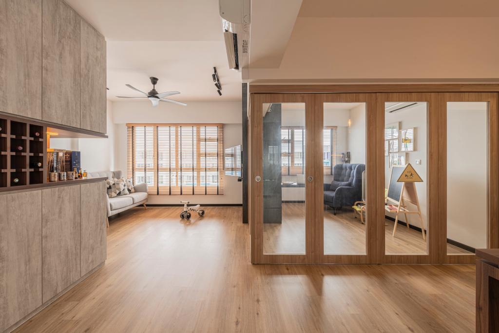 Modern, HDB, Living Room, Woodlands Drive 16, Interior Designer, E&S, Scandinavian