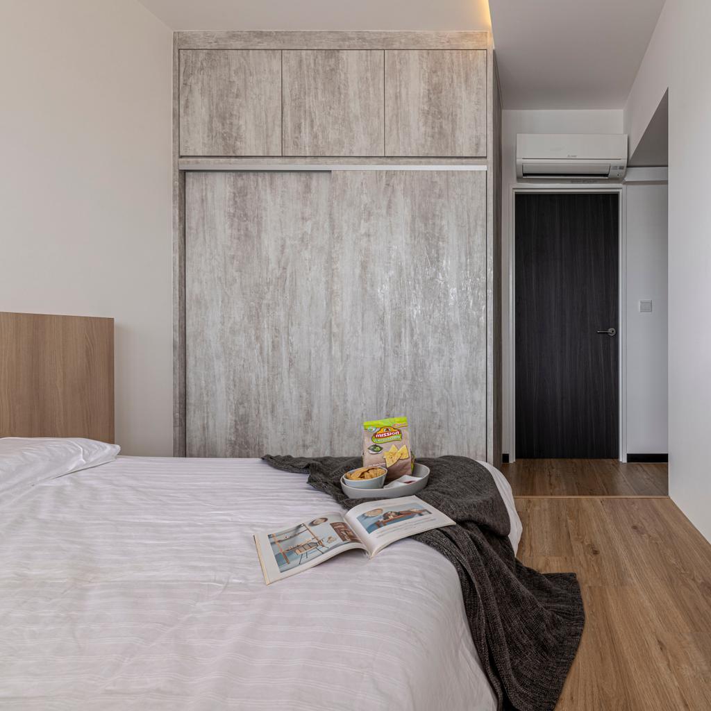 Modern, HDB, Bedroom, Woodlands Drive 16, Interior Designer, E&S, Scandinavian