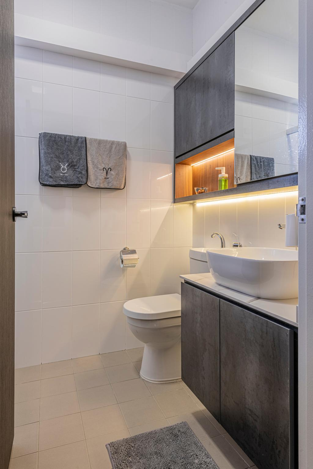 Modern, HDB, Bathroom, Woodlands Drive 16, Interior Designer, E&S, Scandinavian