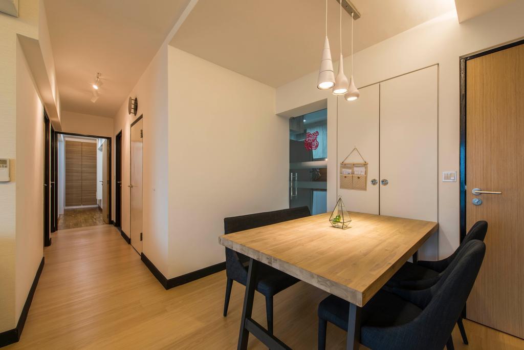 Scandinavian, HDB, Dining Room, Skyville @ Dawson, Interior Designer, E&S