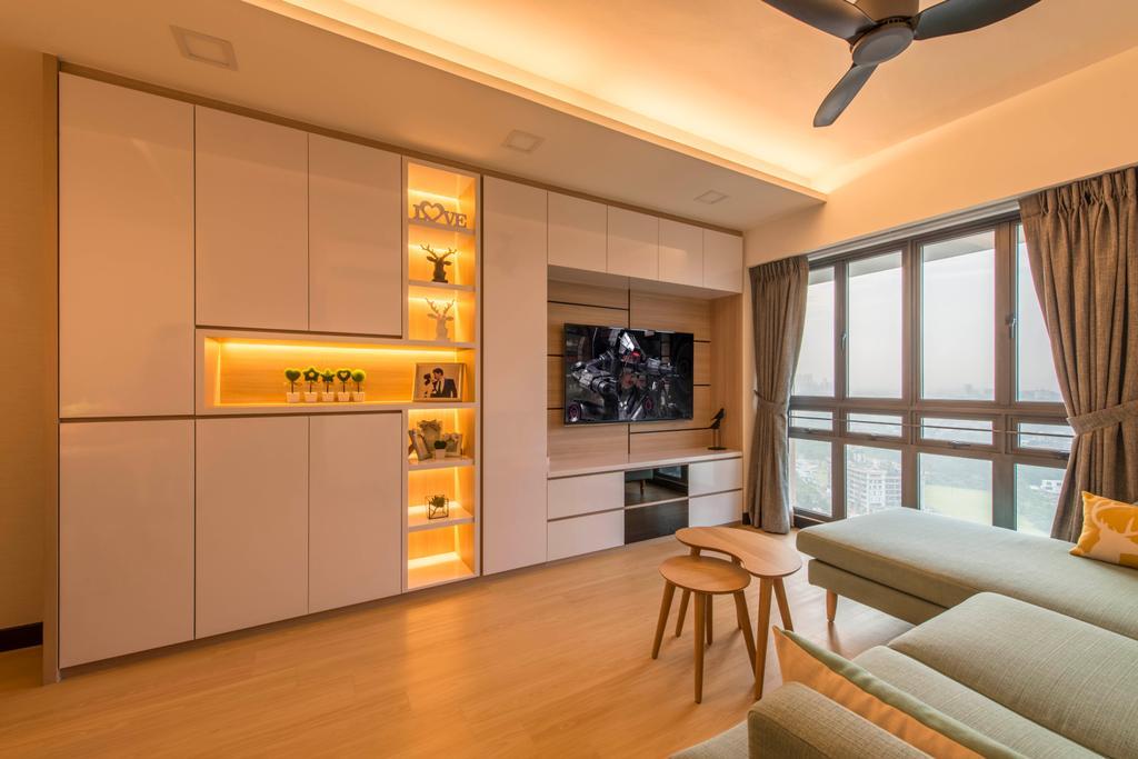 Scandinavian, HDB, Living Room, Skyville @ Dawson, Interior Designer, E&S