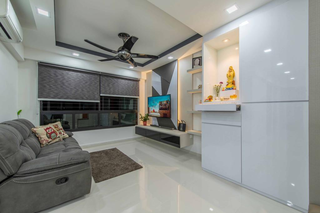 Modern, HDB, Living Room, Choa Chu Kang Ave 1, Interior Designer, E&S