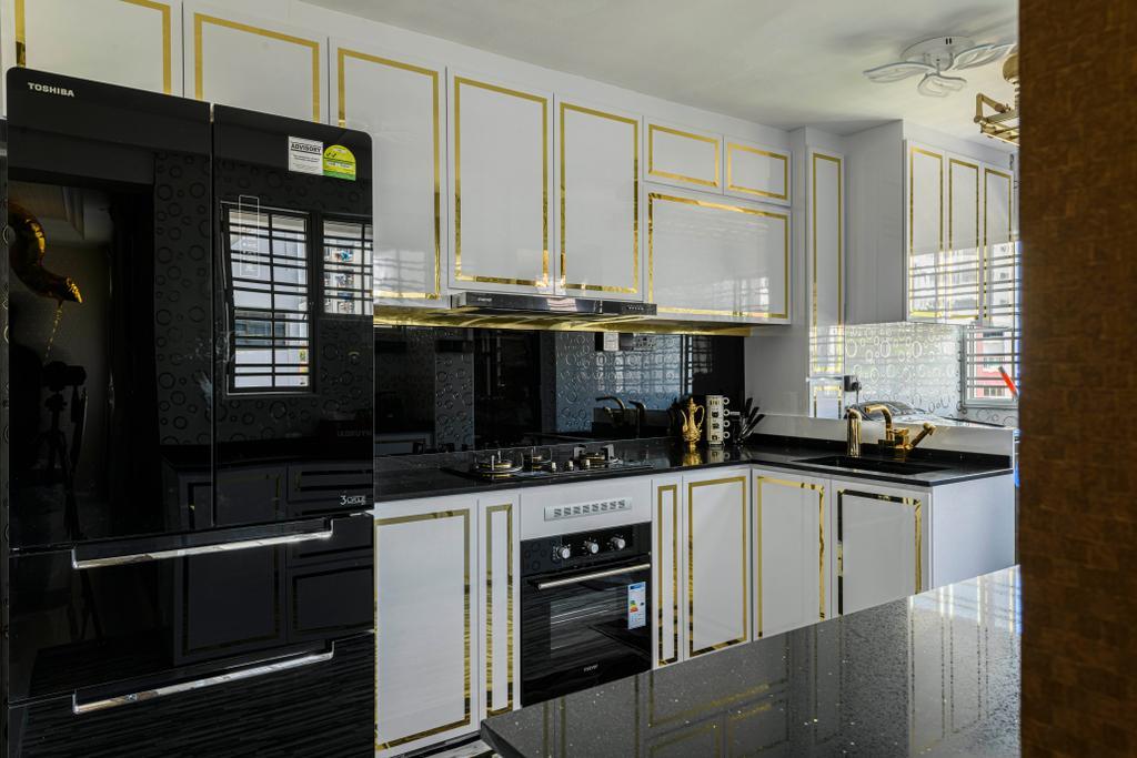 Modern, HDB, Kitchen, Bedok Reservoir Road, Interior Designer, E&S, Contemporary