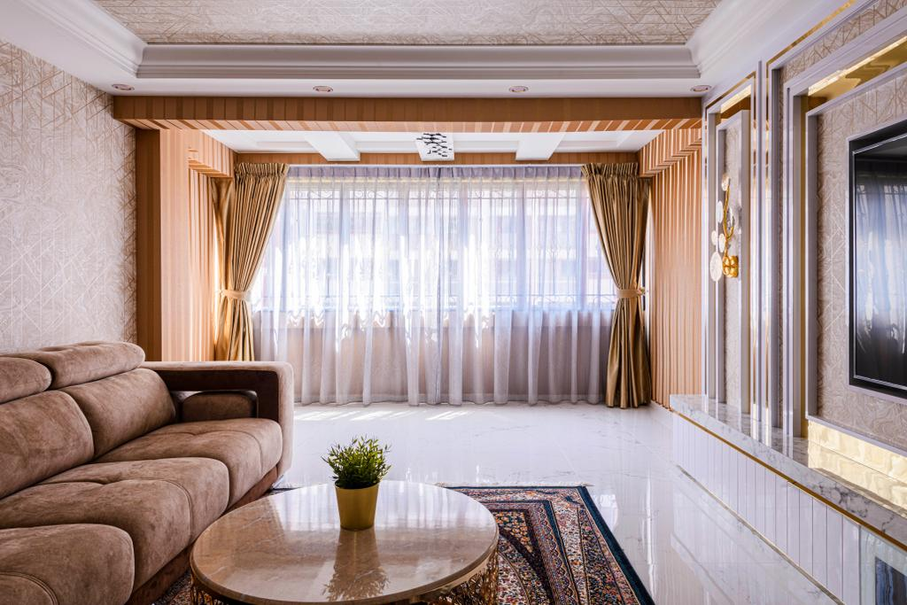 Modern, HDB, Living Room, Bedok Reservoir Road, Interior Designer, E&S, Contemporary