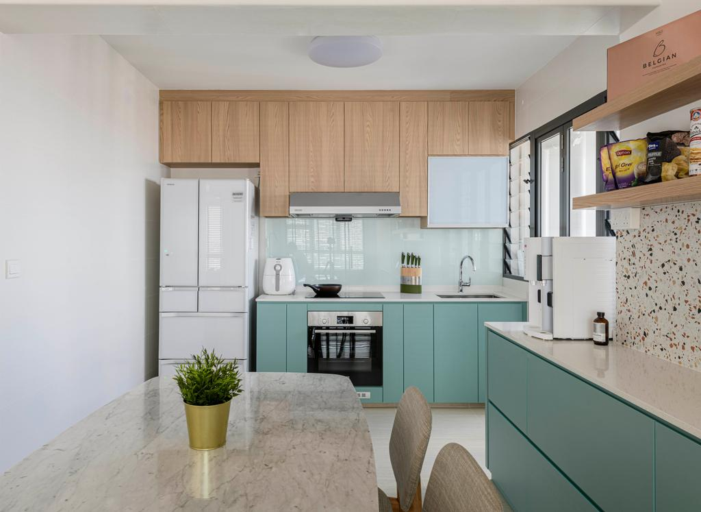 Modern, HDB, Kitchen, Clementi Avenue 3, Interior Designer, E&S, Scandinavian