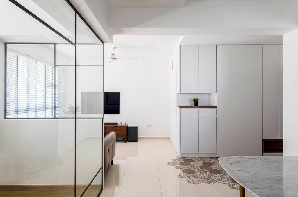 Modern, HDB, Living Room, Clementi Avenue 3, Interior Designer, E&S, Scandinavian