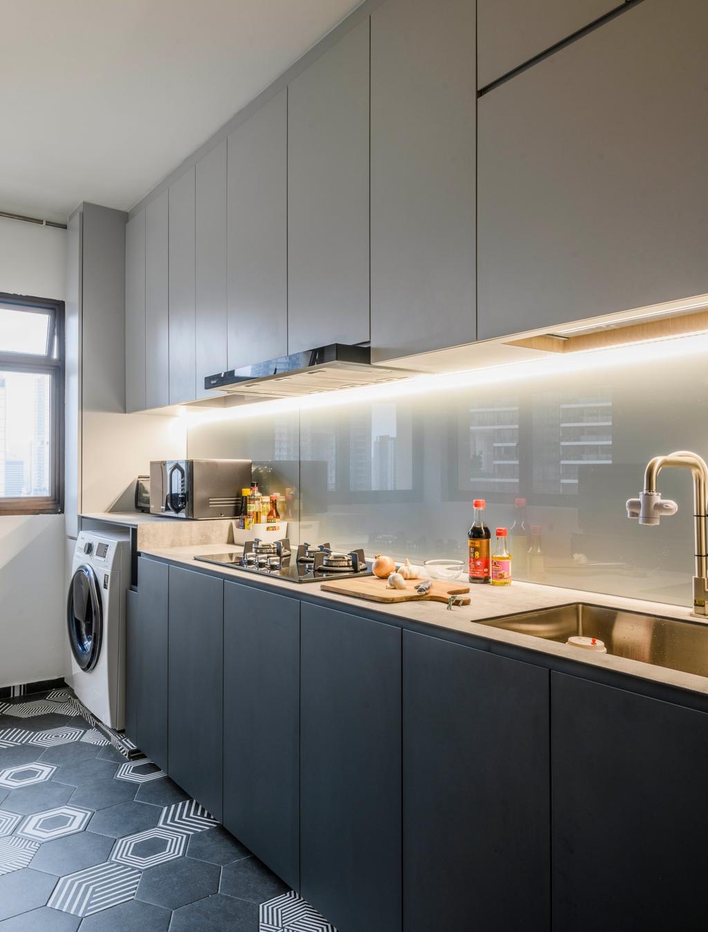 Contemporary, HDB, Kitchen, Redhill Road, Interior Designer, E&S