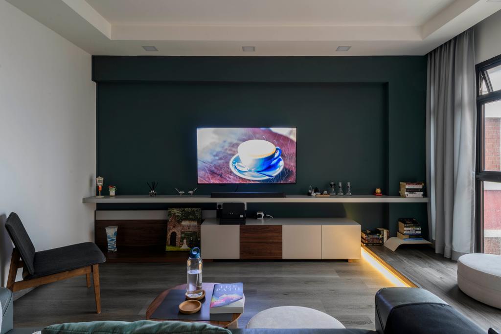 Contemporary, HDB, Living Room, Redhill Road, Interior Designer, E&S