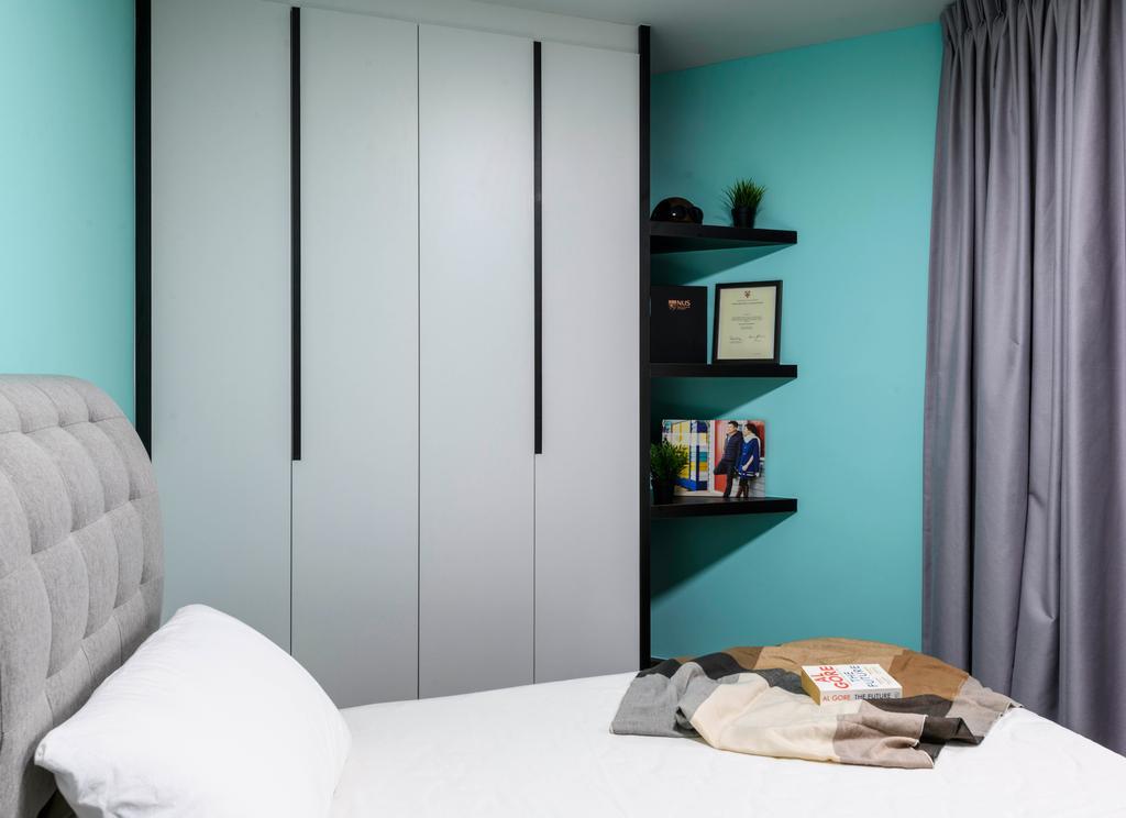 Contemporary, HDB, Bedroom, Redhill Road, Interior Designer, E&S