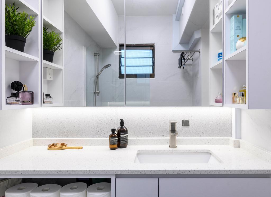 Contemporary, HDB, Bathroom, Redhill Road, Interior Designer, E&S