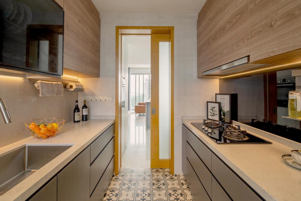 Contemporary, Condo, Kitchen, Aalto, Interior Designer, The Makers Design Studio