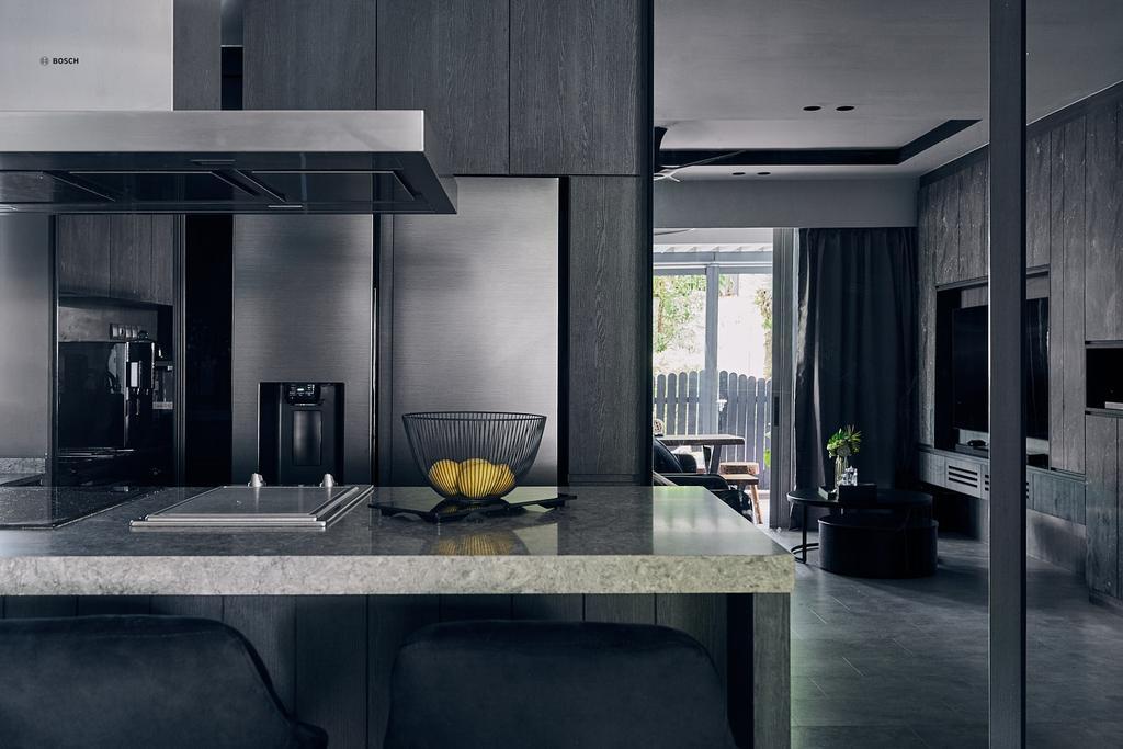 Contemporary, Condo, Living Room, Q Bay Residences, Interior Designer, Rockin Spaces