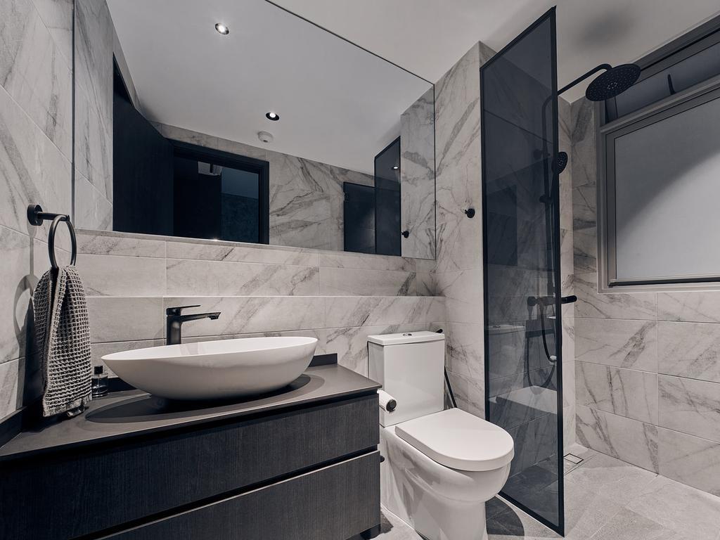 Contemporary, Condo, Bathroom, Q Bay Residences, Interior Designer, Rockin Spaces