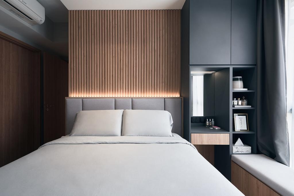 Contemporary, Condo, Bedroom, Yio Chu Kang Road, Interior Designer, Rockin Spaces