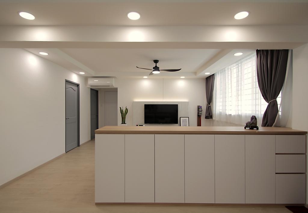 Modern, HDB, Living Room, Bishan Street 12, Interior Designer, VVID Elements