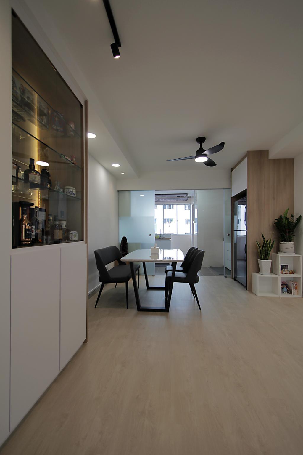 Modern, HDB, Dining Room, Bishan Street 12, Interior Designer, VVID Elements
