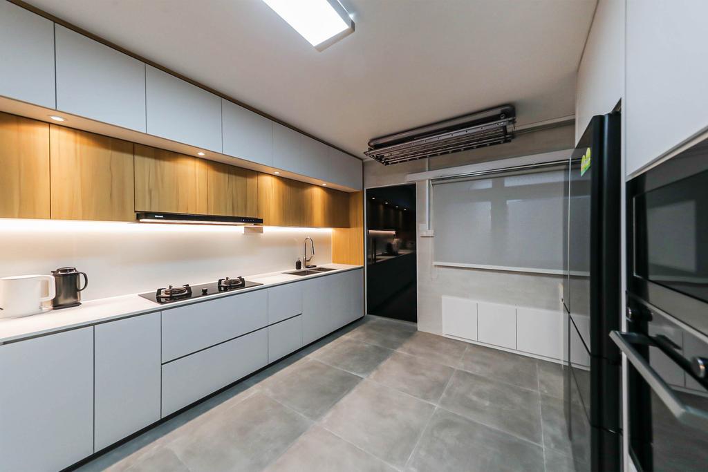 Modern, HDB, Kitchen, Boon Lay, Interior Designer, Swiss Interior Design