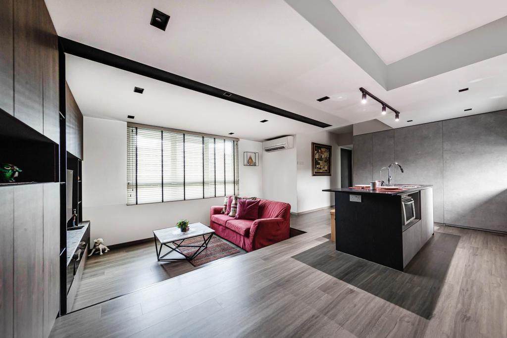 Modern, Condo, Living Room, Escada View, Interior Designer, Swiss Interior Design, Contemporary