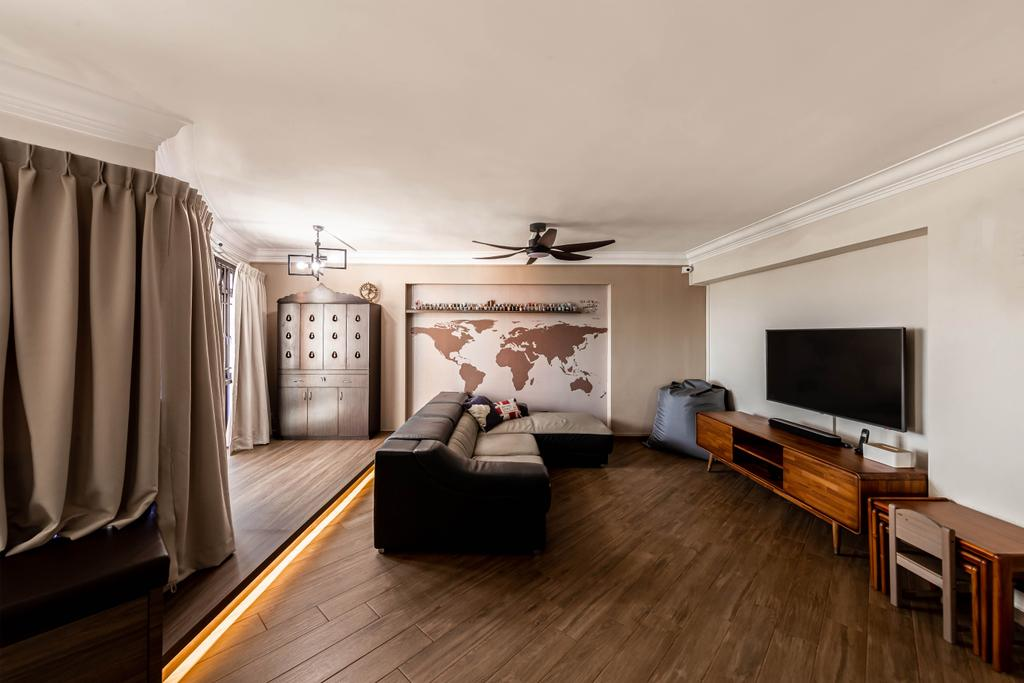 Contemporary, HDB, Living Room, Jurong West Street 52, Interior Designer, Swiss Interior Design
