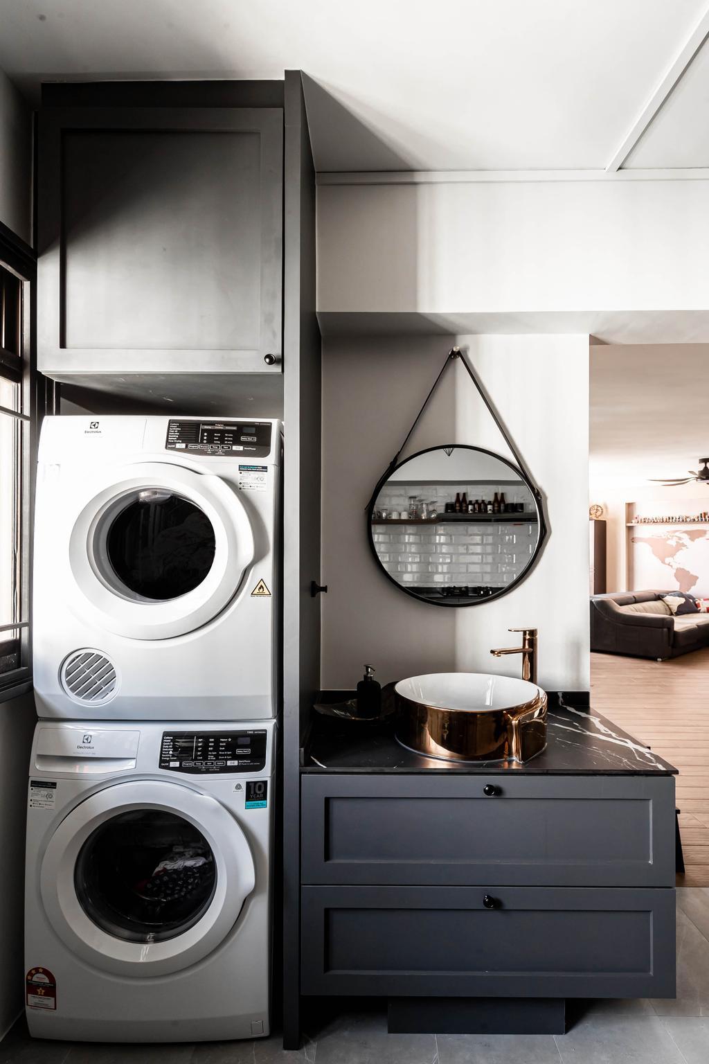 Contemporary, HDB, Kitchen, Jurong West Street 52, Interior Designer, Swiss Interior Design