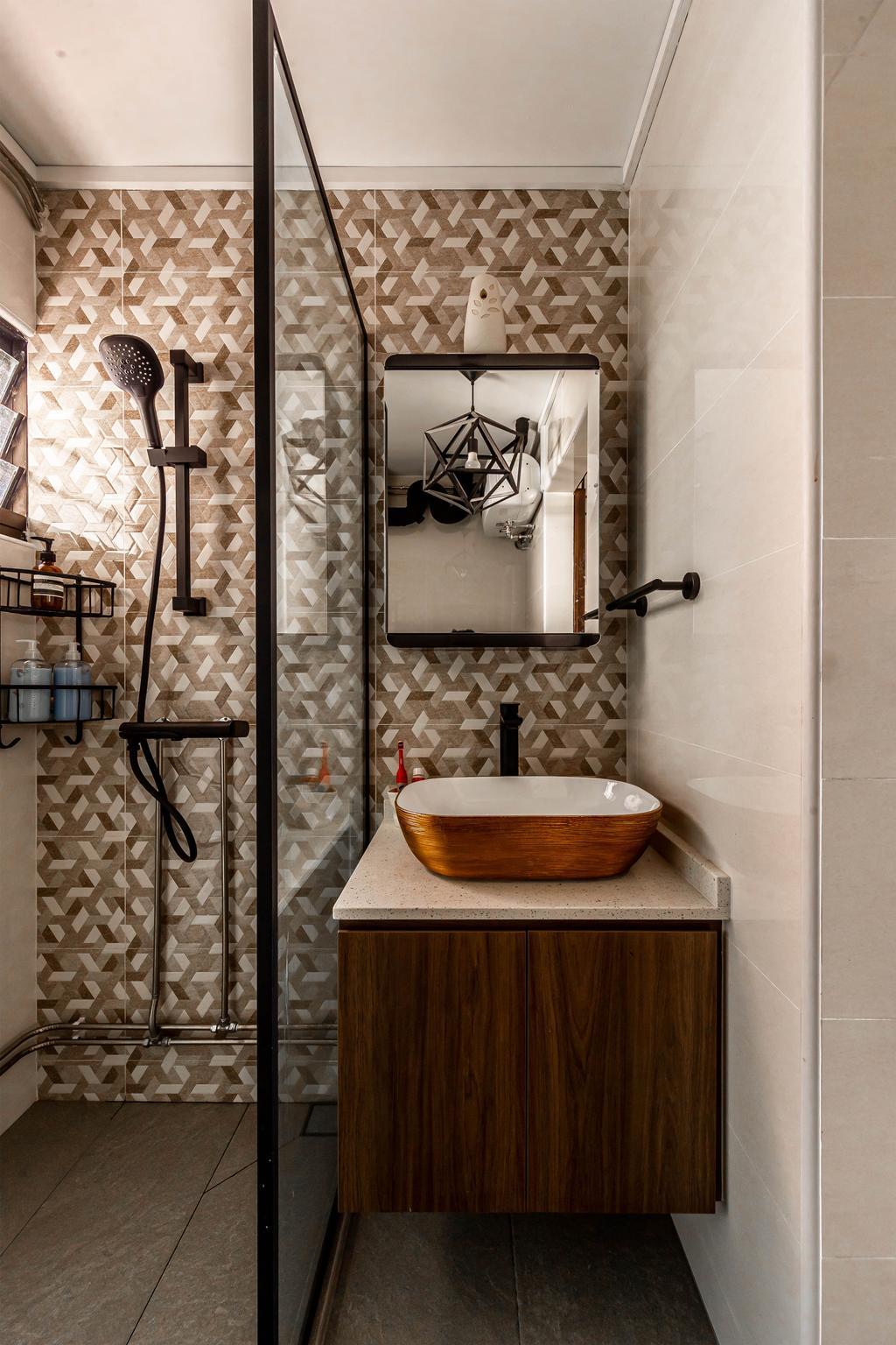 Contemporary, HDB, Bathroom, Jurong West Street 52, Interior Designer, Swiss Interior Design