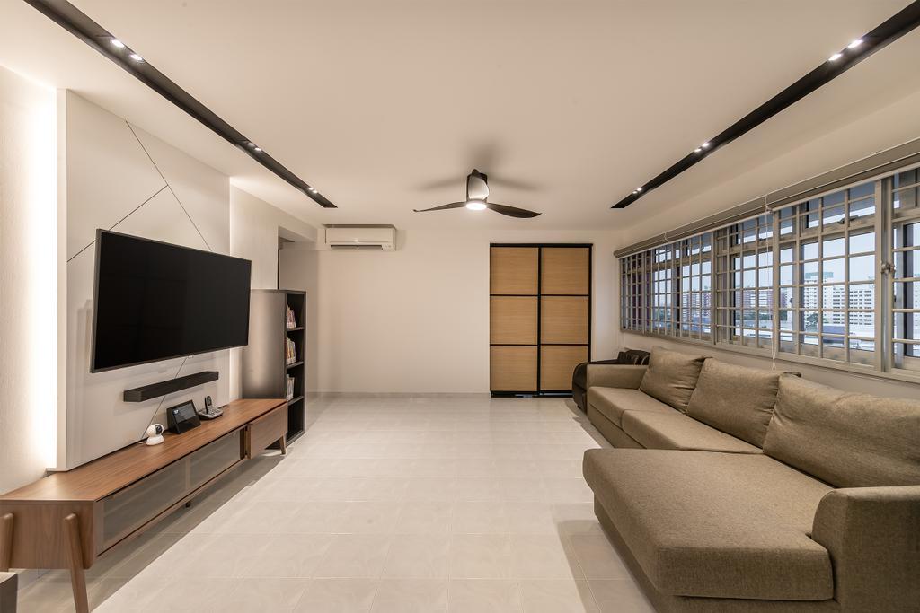 Modern, HDB, Living Room, Pasir Ris, Interior Designer, Swiss Interior Design