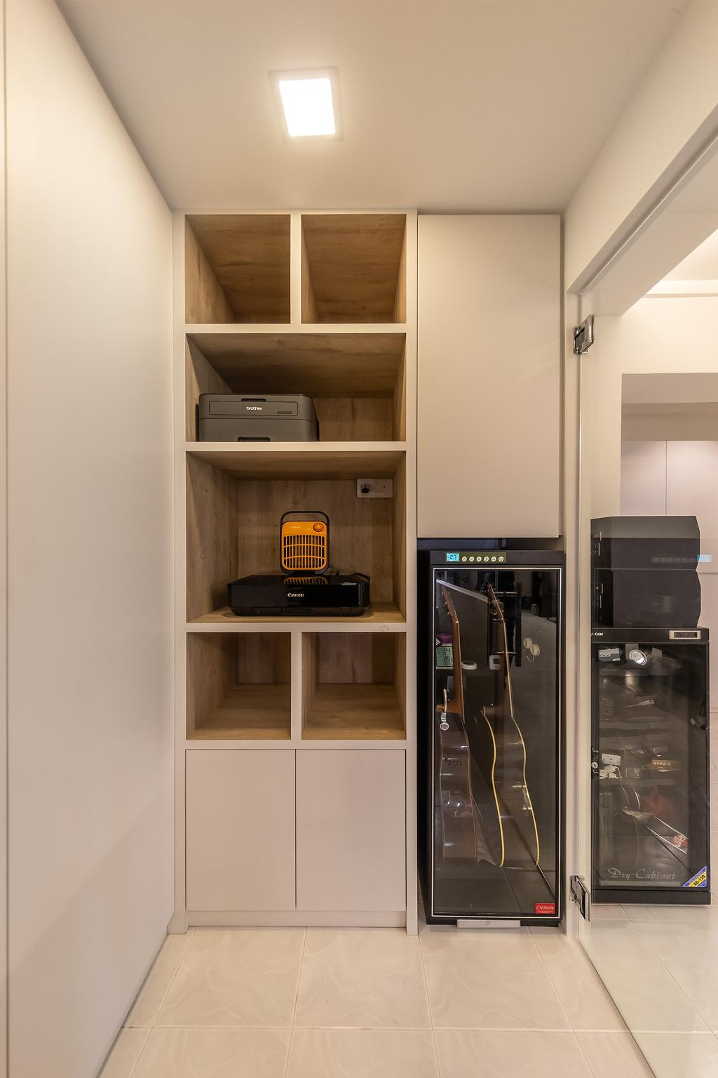 Modern, HDB, Study, Pasir Ris, Interior Designer, Swiss Interior Design