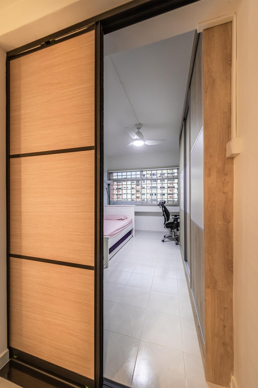 Modern, HDB, Bedroom, Pasir Ris, Interior Designer, Swiss Interior Design