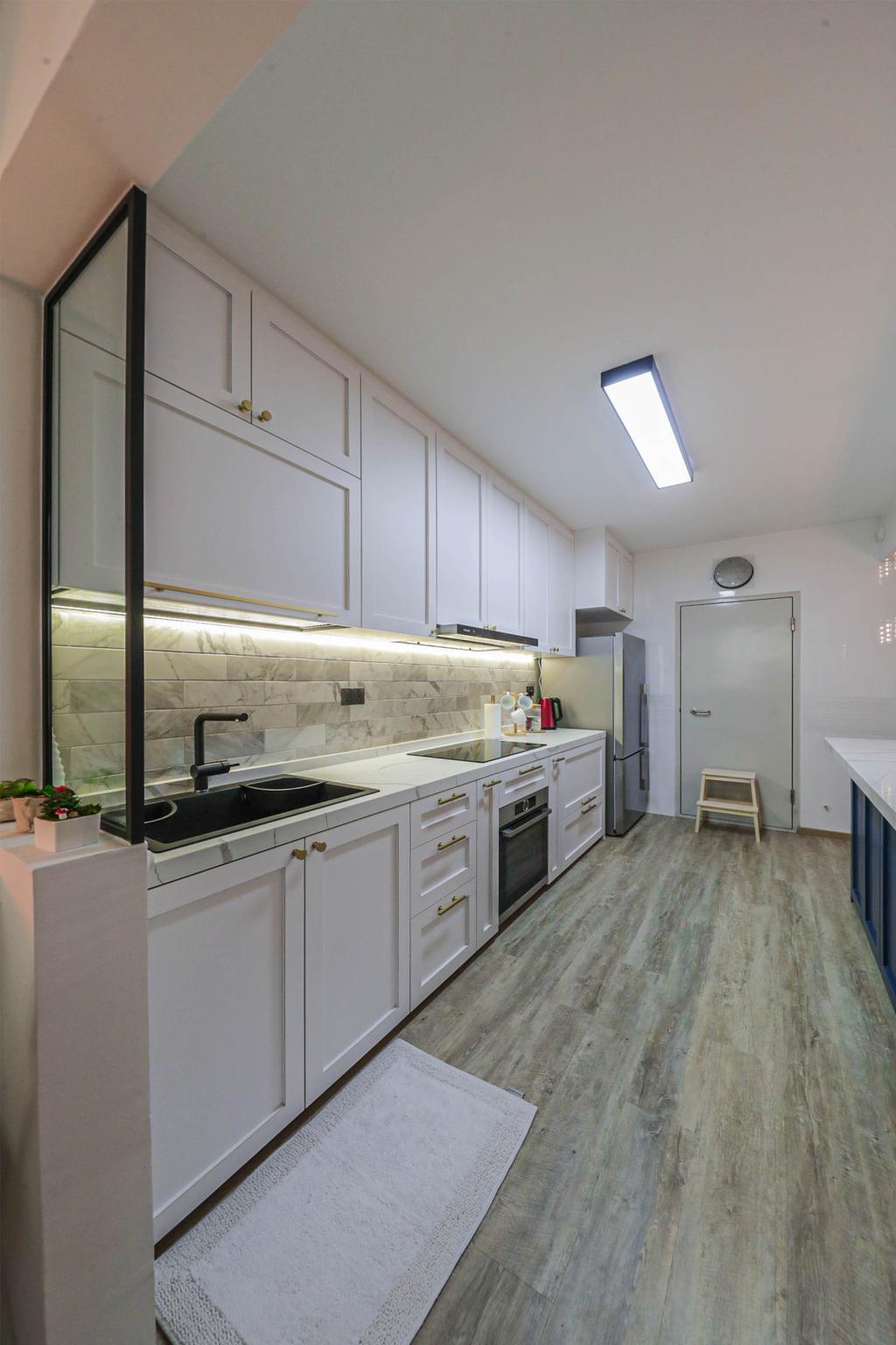 Modern, HDB, Kitchen, West Plains @ Bukit Batok, Interior Designer, Swiss Interior Design, Scandinavian