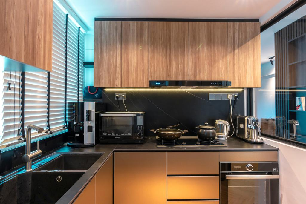 Modern, Condo, Kitchen, Cote D'Azur, Interior Designer, 9 Creation, Contemporary