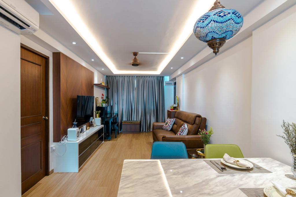 Vintage, HDB, Living Room, Tampines Street 41, Interior Designer, 9 Creation