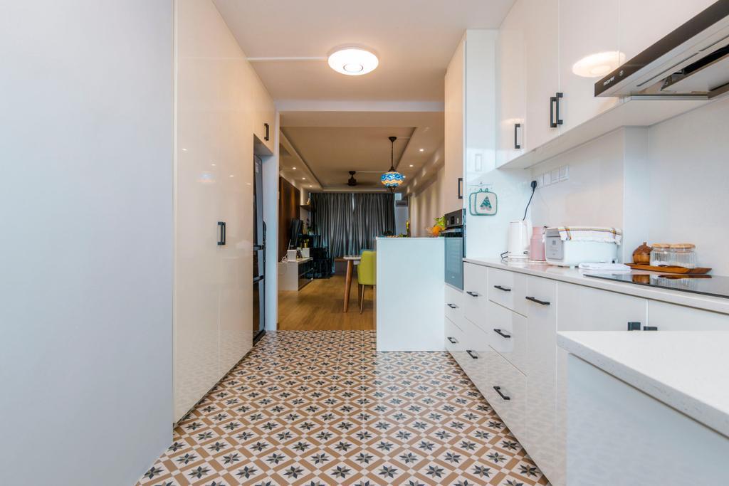 Vintage, HDB, Kitchen, Tampines Street 41, Interior Designer, 9 Creation