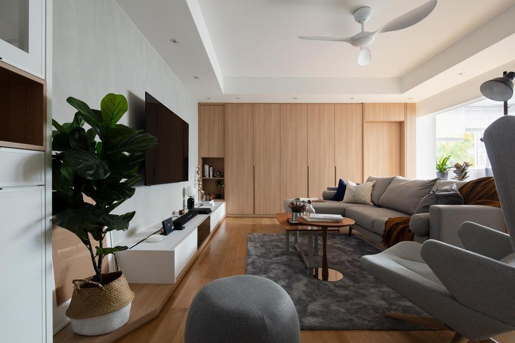 Scandinavian, Condo, Living Room, Bangsar South, WP Kuala Lumpur, Interior Designer, Wuuu Studio