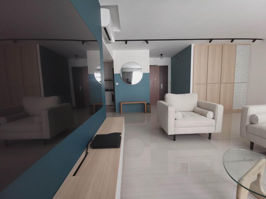 Contemporary, HDB, Living Room, Canberra Street, Interior Designer, Urban Home Design 二本設計家, Scandinavian