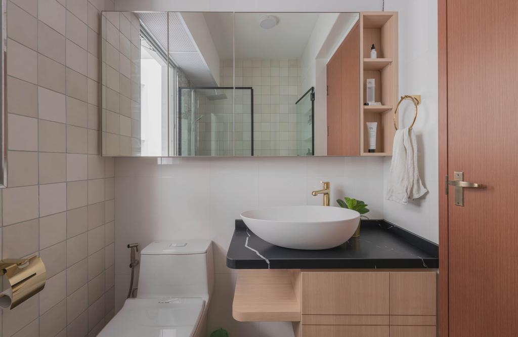 Contemporary, HDB, Bathroom, Canberra Street, Interior Designer, Urban Home Design 二本設計家, Scandinavian