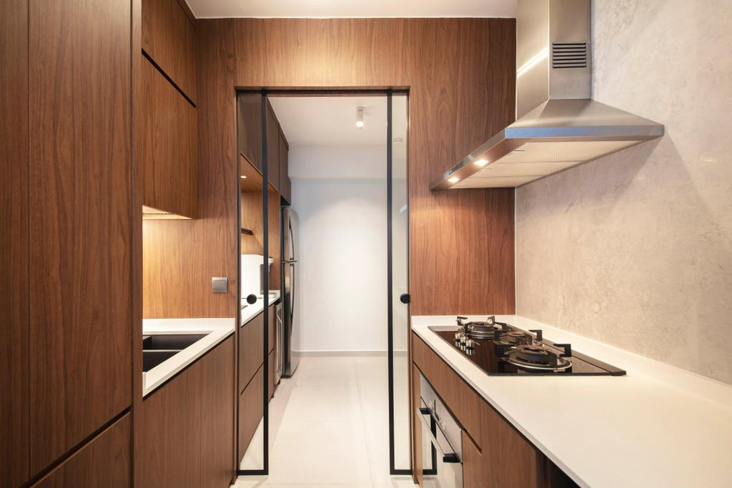 Contemporary, HDB, Kitchen, St George's Road, Interior Designer, KDOT