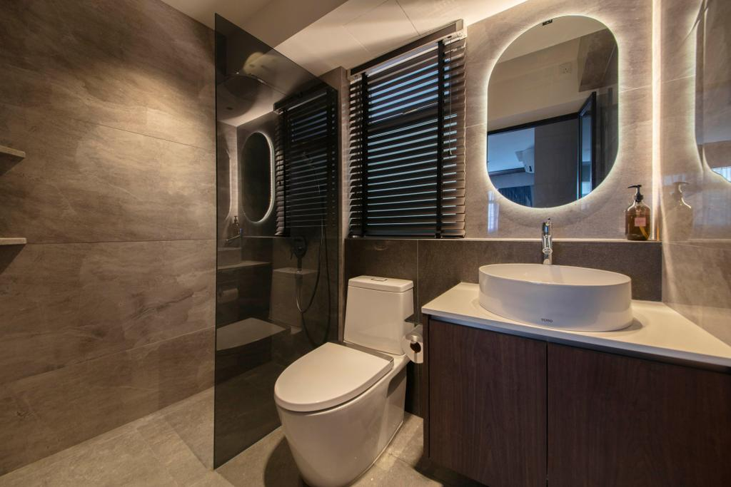 Contemporary, HDB, Bathroom, St George's Road, Interior Designer, KDOT