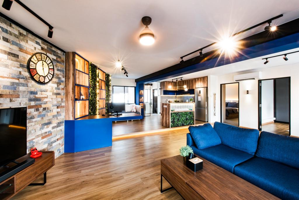 Contemporary, HDB, Living Room, Hougang Avenue 10, Interior Designer, Mr Designer Studio