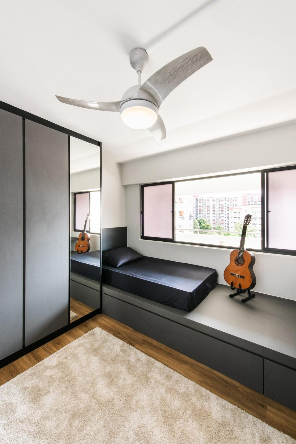 Contemporary, HDB, Bedroom, Hougang Avenue 10, Interior Designer, Mr Designer Studio