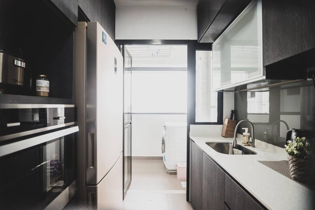 Modern, HDB, Kitchen, Tampines Street 61, Interior Designer, Mr Designer Studio, Scandinavian