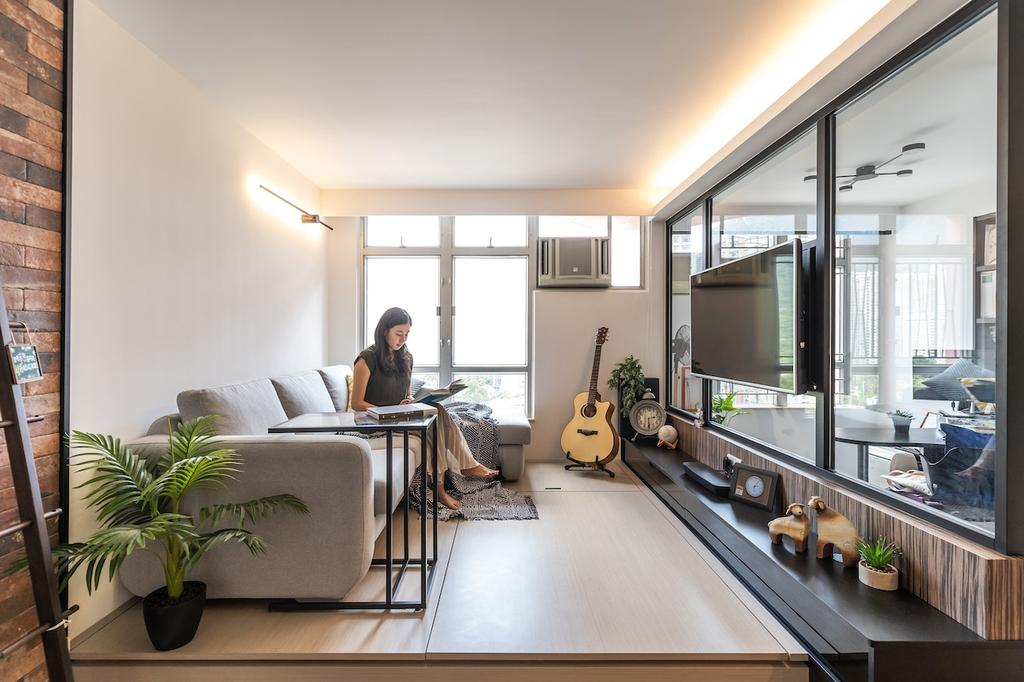 當代, 私家樓, 書房, 錦豐苑, 室內設計師, MAD Studio Limited