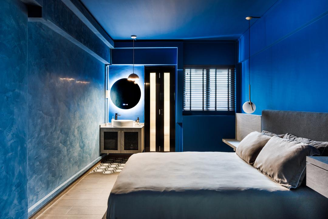 Ang Mo Kio Avenue 1, Karpentree Studio, Modern, Retro, Bedroom, HDB